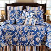 Birkdale Blue Quilt and Bedding