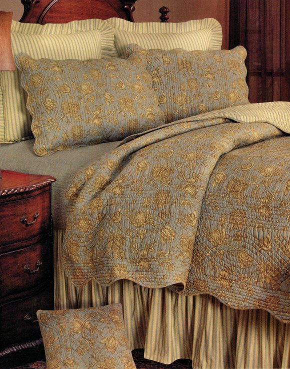 Berkeley Blue Quilt And Bedding