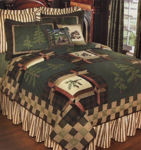 Forest Trail Quilt And Lodge Bedding