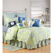 Green Shells Quilt and Bedding