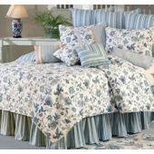 Jacobean Blue Quilt and Bedding