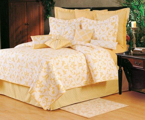 Seraphina Yellow Quilt and Bedding : yellow quilt bedding - Adamdwight.com