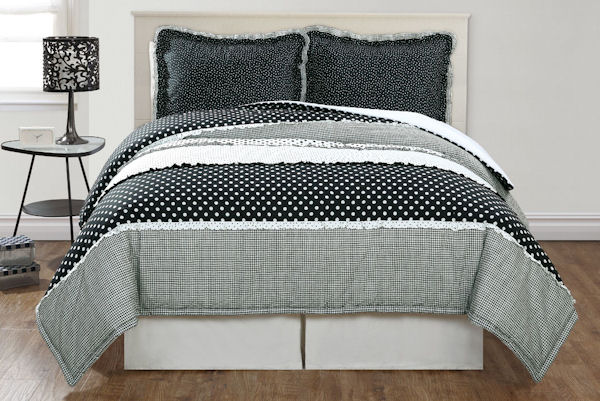 Dots and Pepper Comforter Set - Discount Home Bedding