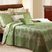 Greenland Home Fashions Bliss Sage Quilt Set