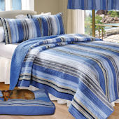 Greenland Home Fashions Brisbane Stripe Quilt Set
