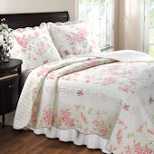 Greenland Home Fashions Coral Red Quilt Set
