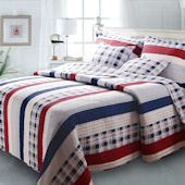 Greenland Home Fashions Nautical Stripes Quilt Set