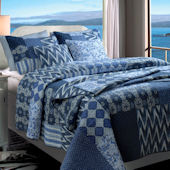 Greenland Home Fashions Santorini Quilt Set