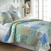 Greenland Home Fashions Vintage Jade Quilt Set