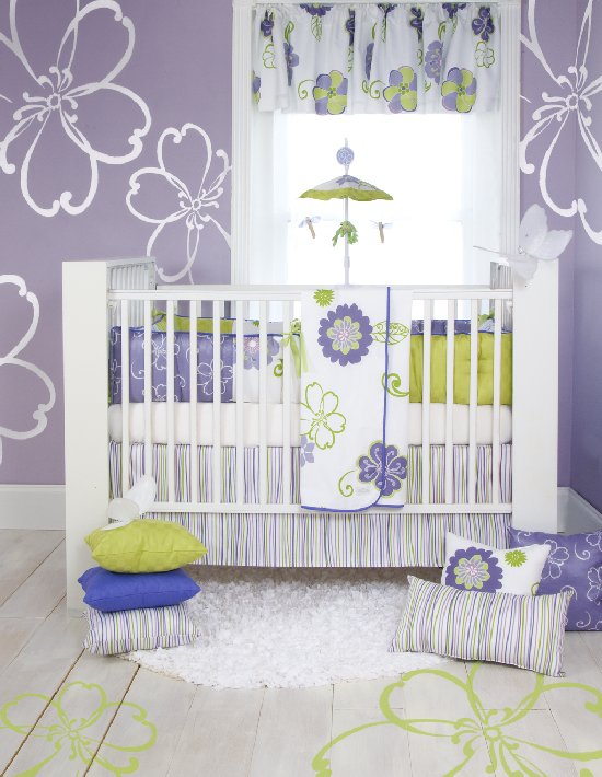 Lulu Four Piece Crib Bedding Set by Sweet Potato - Discount Home Bedding