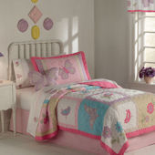 Flurry of Butterflies Twin Quilt  Bedding Set
