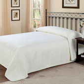 French Tile Ivory Bedspread