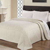 French Tile Linen Bedspread