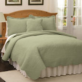 French Tile Tea Green Bedspread