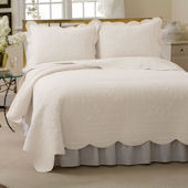 French Tile White Bedspread