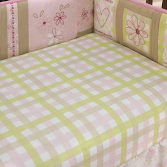 laura ashley love crib sheet