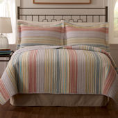Retro Pastel Stripe Quilt Set
