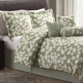 Sage Leaf Shadow Quilt Set