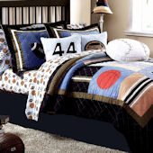 State Games Twin Quilt Set