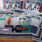 Surfing USA Quilt Bedding Set