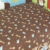 Jenny McCarthy Zoo Zoo Fitted Crib Sheet