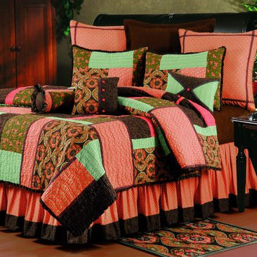 King Bedding Sets Orange on Sonnet Patchwork Quilt Bedding Set   Discount Home Bedding