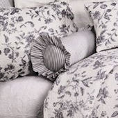 Brighton Toile Black Ticking Neckroll Pillow SALE