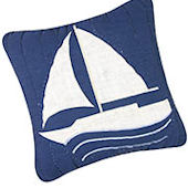 Nantucket Dreams Sailboat Pillow SALE